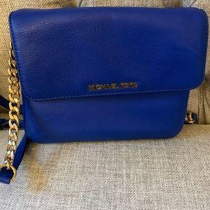 Michael Kors cobalt blue versatile bagwith gold hw